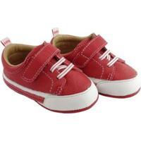 Tênis Infantil Couro Catz Calçados Jordy - Unissex-Vermelho