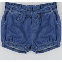 Short Jeans Infantil Clochard Azul Médio