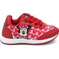 Tênis Infantil Disney Minnie Feminino - Feminino-Vermelho