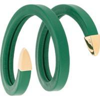 Bottega Veneta Pulseira De Couro - Verde