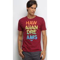 Camiseta Hd 80'S Dreams Masculina - Masculino-Bordô