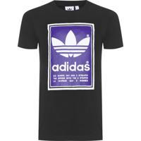 Camiseta Masculina Filled Label - Preto