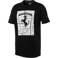 Camiseta Puma Ferrari Big Shield I Masculina - Masculino-Preto