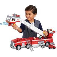 Veículo E Mini Figura - Caminhão De Bombeiro - Resgate Extremo - Patrulha Canina - Sunny