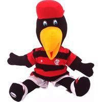 Boneco Reve D'Or Sport Mascote Oficial Flamengo Branca, Vermelha E Preta