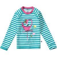 Blusa Azul Malha Uv Flamingo Menina