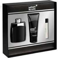 Kit 1 Perfume Montblanc Legend Edt 100Ml + 1 Creme Pós Barba 10Ml + 1 Miniatura Perfume Masculino - Masculino-Incolor