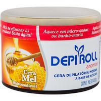 Depilador Depiroll Aromas Mel Cera Morna Para Pernas, Braços, Axilas, Virilha E Buço Com 400Ml