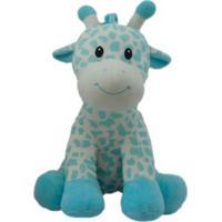 Pelúcia 27 Cm - Girafinhas Coloridas - Azul - Minimi