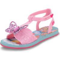 Sandália Infantil Barbie Borboleta Grendene Kids - 22213 Rosa 23/24
