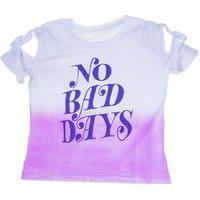 Blusa Mc No Bad Days Turquesa Mini Us 2 Roxo