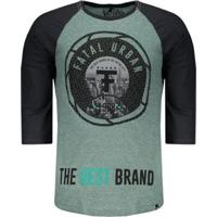 Camiseta Fatal Especial Logo Masculina - Masculino-Verde