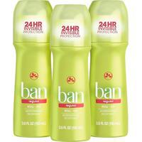 Ban Kit Desodorante Antitranspirante Roll-On 103Ml Trio - Regular