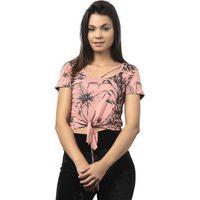 Blusa Decote Tropical-Rosa-M