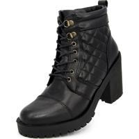 Bota Cano Curto Over Boots Valentina Preta - Tricae