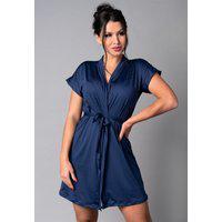 Hobby Mvb Modas Roupão Feminino Noiva Sexy Robe Romantic Azul