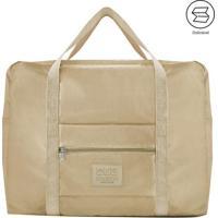 Bolsa De Viagem Dobrã¡Vel- Bege- 20X45X36,5Cm- Jajacki Design