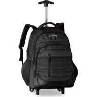 "Mochila Laptop Clio Style Mesclado Listras Com Rodas 18"" Modelo 2"