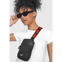 Bolsa Nike Sportswear Essentials S Hip Pack Preto/Laranja
