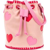 Stella Mccartney Kids Bolsa Transversal Com Recortes De Coração - Rosa