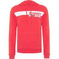 Blusa Masculina Essential Graphic Hoodie - Vermelho