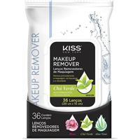 Lenço Demaquilante Kiss New York Makeup Remover Tissue Green Tea 36 Unidades - Feminino-Incolor