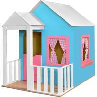Casinha Criança Feliz De Brinquedo Com Cercado Azul/Rosa