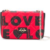 Love Moschino Bolsa Tiracolo Com Estampa De Logo - Preto