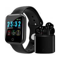 Kit Relógio Smartwatch I5 + Fone De Ouvido Tws Air I7S Bluetooth 5.0 Com Case - Preto