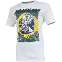 Camiseta Mks Nations Brazilian Jiu Jitsu Branco.