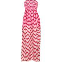 Tara Matthews Vestido Longo Estampado - Rosa