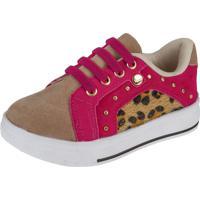 Tênis Baby Joys Shoes Calce Fácil Onça/Pink