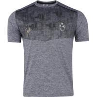 Camiseta Do Atlético-Mg Grind - Masculina - Cinza/Preto