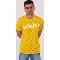 Camiseta Adidas Linear Graphic Amarela