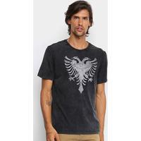 Camiseta Cavalera Aguia Stone Masculina - Masculino-Preto