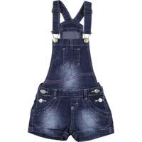 Macacão Imports Baby Jeans Jardineira Azul