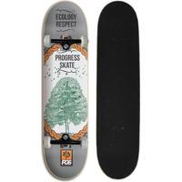 31a839f646 Panela e Fundidos  Skate Montado Iniciante Progress - Pgs Ecology Cinza -  Unissex