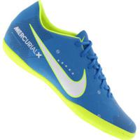 c2b21fefd4 Chuteira Futsal Nike Mercurial X Victory Vi Neymar Ic - Adulto - Azul  Cla Verde