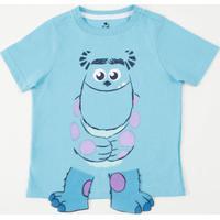 Camiseta Infantil Monstros Sa Manga Curta Disney
