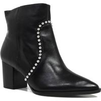 Bota Zariff Shoes Ankle Boot Metais Feminina - Feminino-Preto