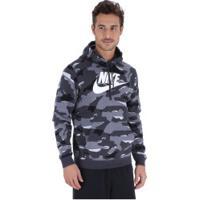 Blusão De Moletom Com Capuz Nike Hoodie Po Bbgx - Masculino - Cinza Esc/Cinza