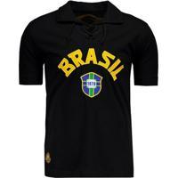 Camisa Brasil Goleiro Retrô 1970 Masculina - Masculino