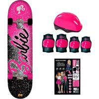 Barbie Skate Com Adesivos Glitter - Fun Divirta-Se
