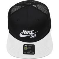 Boné Nike Sb Sb Trucker Preto/Branco