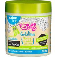 Gelatina Para Cabelo - Ativador De Cachos Salon Line 550G - Unissex-Incolor