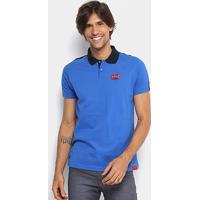 Camisa Polo Fatal Bicolor Masculina - Masculino-Azul Royal