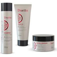 Kit Proteção Da Cor Duetto 1 Shampoo 300Ml+ 1 Máscara 280G +1 Leave-In 200Ml - Feminino-Incolor