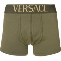 Versace Cueca Com Logo No Cós - Green