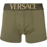 Versace Cueca Com Logo No Cós - Verde