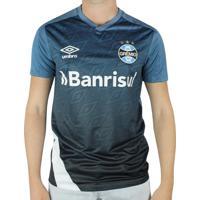 Camisa Masculina Umbro Grêmio Treino 2020 Azul/Branco - P